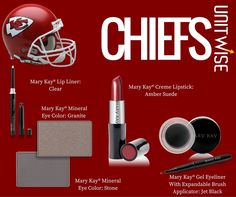 Get your Chiefs look down before the next field goal. Contact me your Mary Kay Consultant  on my website: http://www.marykay.com/tashaypratt Call or text 347-871-0284