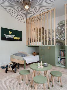 Baby Room Decor, Bedroom Decor, Bedroom Ideas, Cool Kids Rooms, Green Rooms, Kids Room Design, Boy Room, Girls Bedroom, Bedrooms