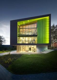 Sport Hotel by M2R Architecture. Green is nice and sporty color.