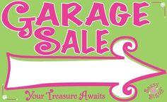 Garage Sale Sign.... Cute idea