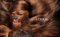 MEME HIJACKING: LÓreal jumps on the meme around the release of Star Wars 7 with hairy wookie Chewbacca Star Wars Meme, Star Wars Film, Star Wars Witze, Chewbacca, Harrison Ford, Desenhos Hanna Barbera, Cuadros Star Wars, Star Wars Wallpaper, Fallout Wallpaper