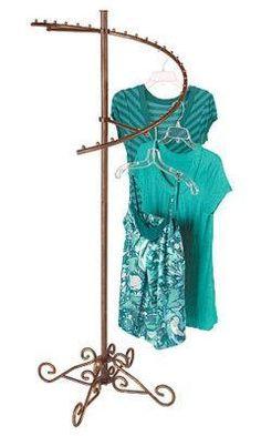 Boutique Cobblestone Spiral Rack w casters Clothes New