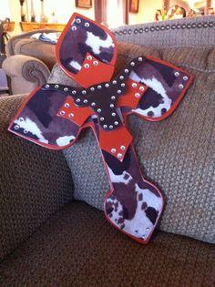 Large Longhorn Wood Cross