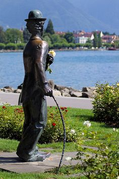 Charlie Chaplin statue at Vevey, Switzerland