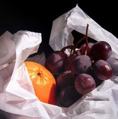 Grapes and Orange