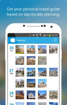 Tripomatic- pick attractions that you want to see and create a day-by-day itinerary for your journey.