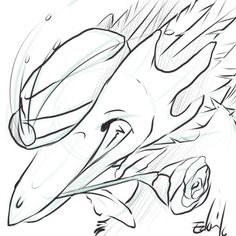 Doodle for Thoracosaurus on FR #Dragon #FlightRising #art #doodle #drawing #digitalart