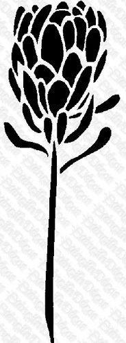 stencils for protea Drawing Stencils, Stencil Painting, Fabric Painting, Painting Flowers, Zentangle Drawings, Outline Drawings, Protea Art, Lino Art, Pottery Painting Designs