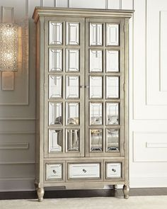 Brielle Mirrored Cabinet | Shared by Fireman's Finds