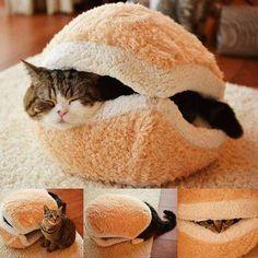 Casinha para Gato em formato de Hambúrguer Saco de Dormir