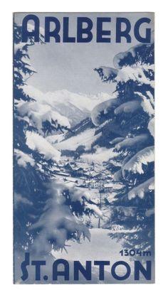 vintage ski poster - Arlberg - St. Anton, Tirol. (1933)
