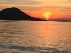 How beautiful sunset in Komodo national parc