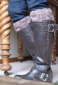 homespun living: a free boot cuff pattern just for You