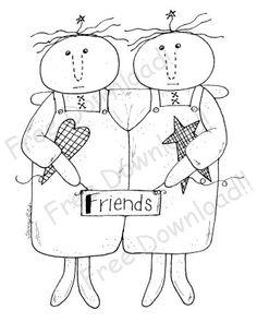 Angel Friends Free Pattern by Twigsnsprigs.com