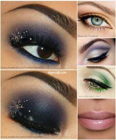 10 Stylishly FestiveChristmas Makeup Ideas! Really good ideas!!