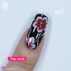 One stroke nail technique for a perfect manicure New Nail Art Design, Creative Nail Designs, Creative Nails, Uñas One Stroke, One Stroke Nails, Nail Art Designs Videos, Nail Art Videos, Nail Art Flowers Designs, Pretty Nail Art