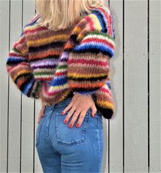 Picking the right concealing to buy for your jumper dress is always unstable. Sweater Scarf, Mohair Sweater, Crochet Jumper, Knit Crochet, Cotton Crafts, Cardigan Pattern, Pretty Patterns, Knit Fashion, Passion For Fashion