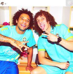 Brazil    Marcelo   David luiz   Cute