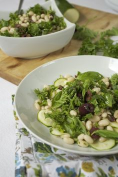 Herbed White Bean and Olive Salad