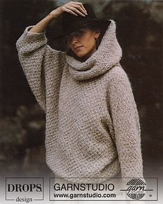 Ravelry: 0-169 Jumper in moss st with large turtle neck pattern by DROPS design