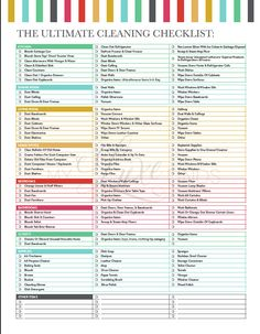 The Ultimate House Cleaning Checklist Printable by LuxePrintables