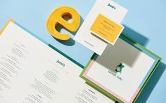 Logotype, menus, coasters, business cards and website designed by Föda for Austin-based all day cafe and bar June's