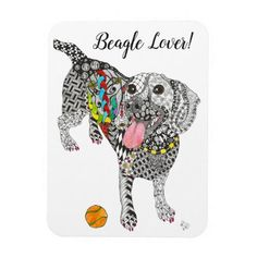 """Cute and Colorful Beagle Magnet 3""""x4""""  cute puppy, fall puppy, bull terrier puppy #pets #puppy #puppies, back to school, aesthetic wallpaper, y2k fashion Snoopy Beagle, Art Beagle, Beagle Funny, Beagle Mix, Bull Terrier Puppy, Hound Dog, Baby Puppies, Cute Puppies, Beagle Facts"""