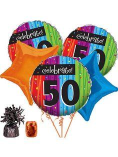 Milestone Celebrations 50th Balloon Kit by Costume SuperCenterTake for me to see Milestone Celebrations 50th Balloon Kit
