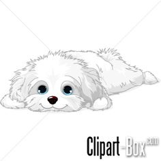 CLIPART LAYED DOG