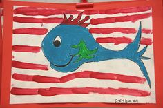 3rd graders painted these fun fish