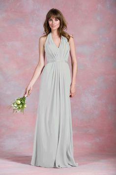 Grecian style mint green bridesmaid dress from Kelsey Rose