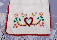 portuguese embroidery heart