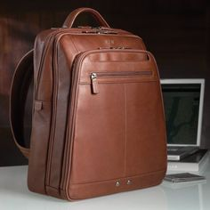 Mosaic Leather Laptop Backpack                                                                                                                                                                                 More