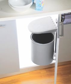 Auto Lid Waste Bin PVC INOX Waste bins are made up of eco friendly plastic and the auto lid mechanism makes it an ultimate choice for the undersink cabinets. Contemporary Kitchen Interior, Friendly Plastic, Personal Taste, Modern, Eco Friendly, Cabinets, Design, Home, Decor