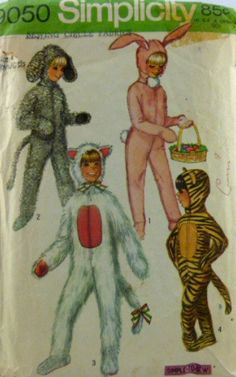 Vintage 70s Simplicity Pattern - I was the bunny for Halloween one year
