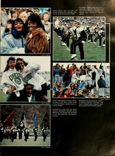 Athena yearbook, 1990. Students and alumni enjoy the Homecoming game at Ohio University.