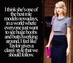Amen! Thank you, Taylor, for choosing class over everything else.