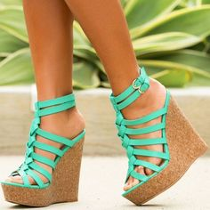 2847031061ec Beautiful Cork-Effect Wedges with Braided Detailing in Front Cute Wedges