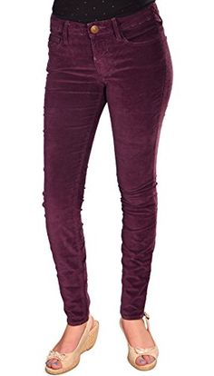True Religion Brand Jeans Womens Halle Skinny Stretch Velvet Pants24 *** To view further for this item, visit the image link.