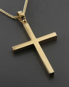 Σταυρός χρυσός Κ18 Cross Jewelry, Cute Jewelry, Jewelry Accessories, Cross Necklaces, Baby Boy Baptism, Christian Symbols, Mens Crosses, Dress Makeup, Cross Pendant