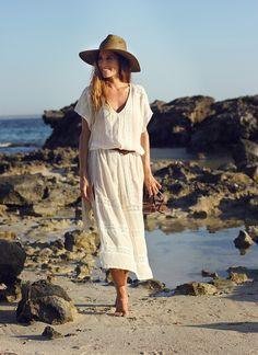 Boho Chic White Summer Dress
