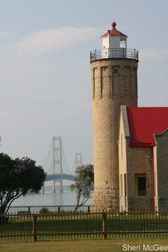 Mackinaw Lighthouse & Bridge