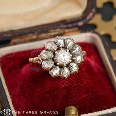 Victorian Rose Cut Diamond Ring - The Three Graces