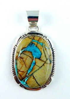 BOULDER TURQUOISE PENDANT: This Stone of the Month is perfect in any setting