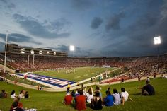 SMU - Southern Methodist University Mustangs. Ford Stadium during a football game