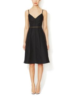 Silk Embroidered Tulle Dress from Designer Classic: The Little Black Dress on Gilt