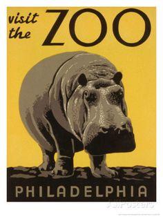 Visite du zoo de Philadelphie Art sur AllPosters.fr