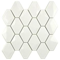 Merola Tile Prism Glossy White 10-1/2 in. x 11 in. x 6 mm Porcelain Mosaic Wall Tile-FDXPRGWH at The Home Depot