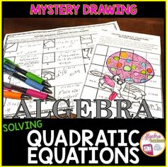 Students will solve 21 quadratic equations with the flexibility to use any appropriate method (quadratic formula, factoring, graphing, taking square roots and/or completing the square) to reveal the mystery drawing! It's the perfect activity for teachers who are into engaging activities without the hassle or