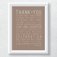 rustic thank you wedding sign PRINTABLE by xSimplyModernDesignx, $13.00